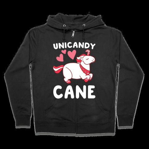 Uni-Candy Cane  Zip Hoodie