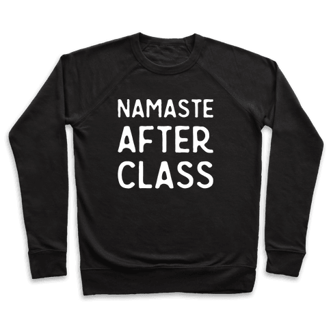 Namaste After Class White Print Pullover