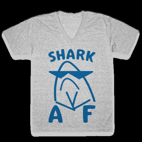 Shark AF V-Neck Tee Shirt