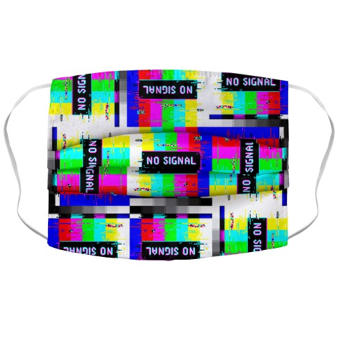 Glitchy No Signal Bars Accordion Face Mask