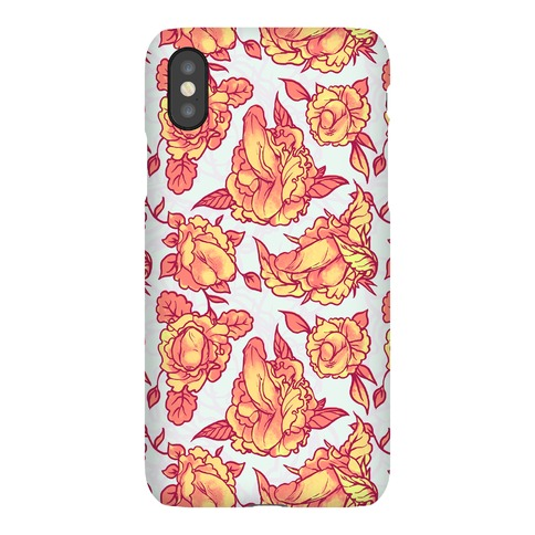 Floral Penis Pattern Orange Phone Case