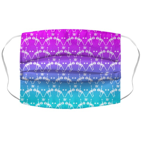 Disco Bones Pattern Accordion Face Mask