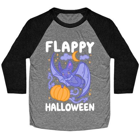 Flappy Halloween Bat Baseball Tee