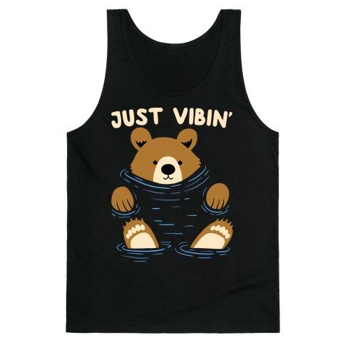 Just Vibin' River Bear Tank Top