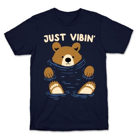 Just Vibin' River Bear T-Shirt