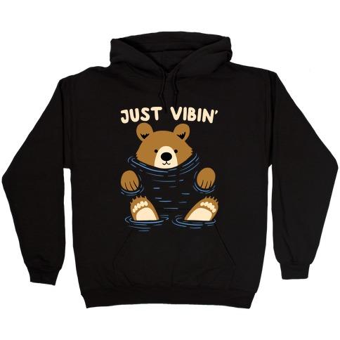 Just Vibin' River Bear Hooded Sweatshirt