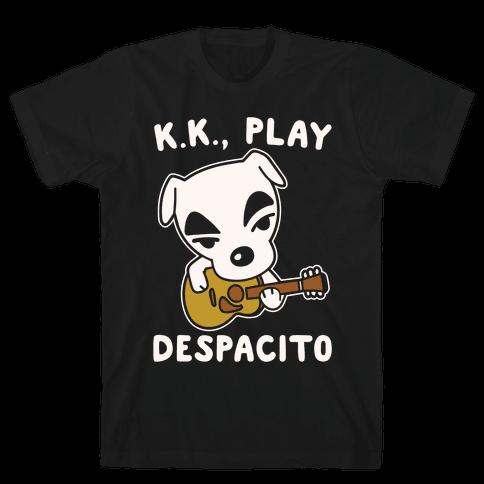 K.K. Play Despacito Parody White Print Mens T-Shirt