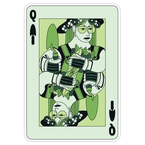 Queen Of Garden Spades Die Cut Sticker