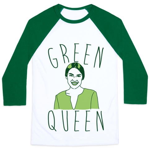 Green Queen AOC Baseball Tee