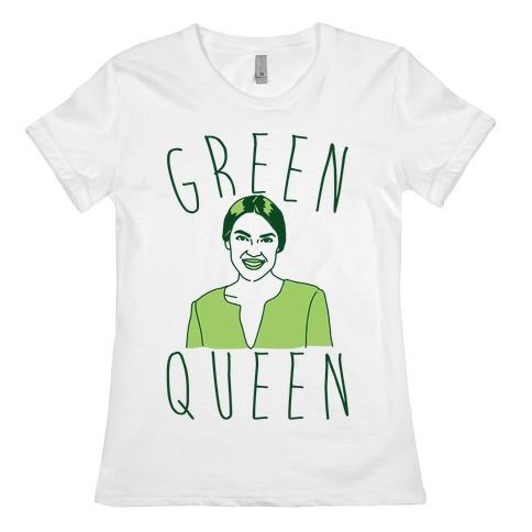 Green Queen AOC  Womens T-Shirt