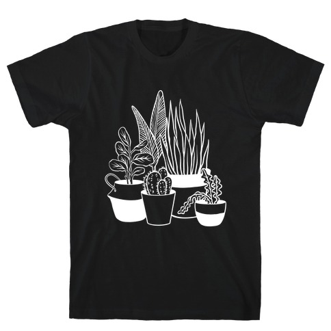 Houseplant Illustration T-Shirt