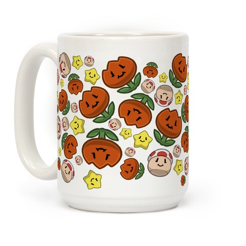 Stuffed Powerups Pattern Coffee Mug