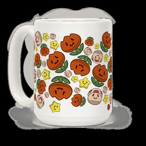 Stuffed Powerups Pattern Coffee Mug