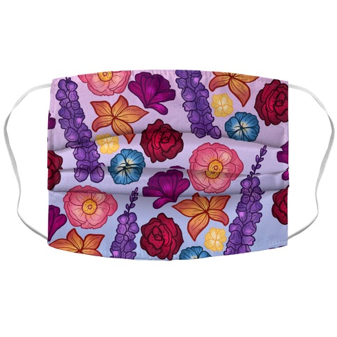 Flowery Pattern Accordion Face Mask