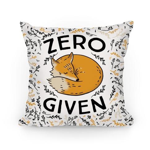 Zero Fox Given Pillow