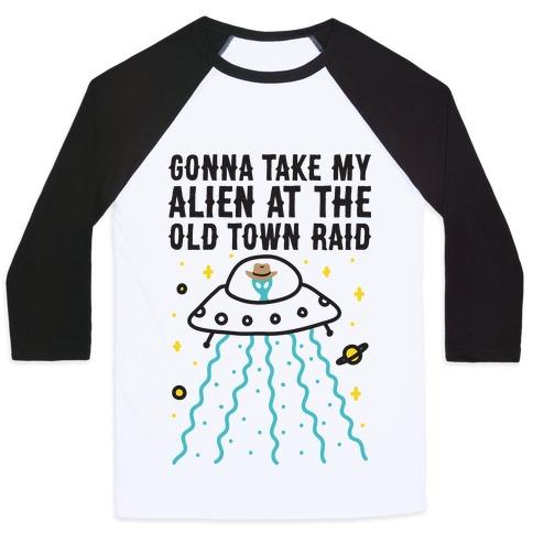 Old Town Raid Baseball Tee