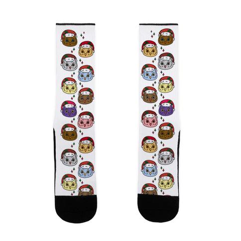 Cute Santa Owl Pattern Sock