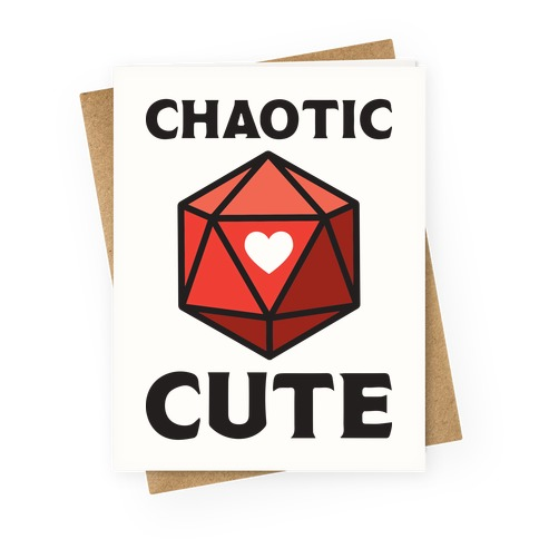 Chaotic Cute Greeting Card