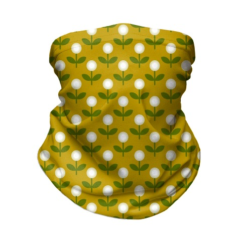 Dainty Retro Dandelions Yellow Pattern Neck Gaiter