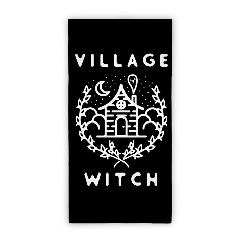 Village Witch Beach Towel
