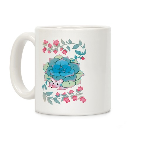 Hedgehog Succulent Coffee Mug