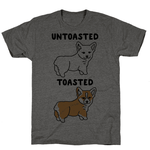 Untoasted and Toasted Corgis  Mens T-Shirt