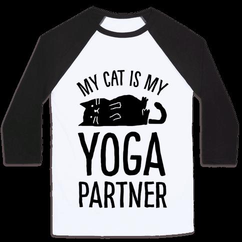 My Cat Is My Yoga Partner Baseball Tee