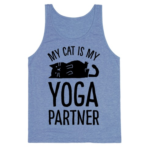 My Cat Is My Yoga Partner Tank Top