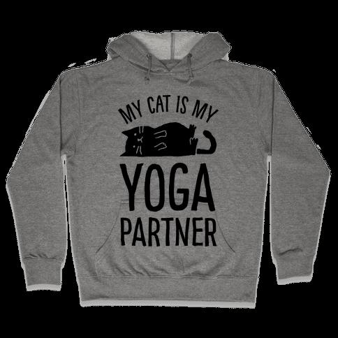My Cat Is My Yoga Partner Hooded Sweatshirt