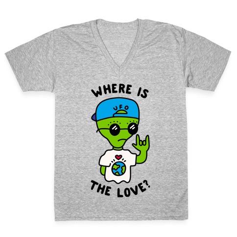 Activist Alien V-Neck Tee Shirt