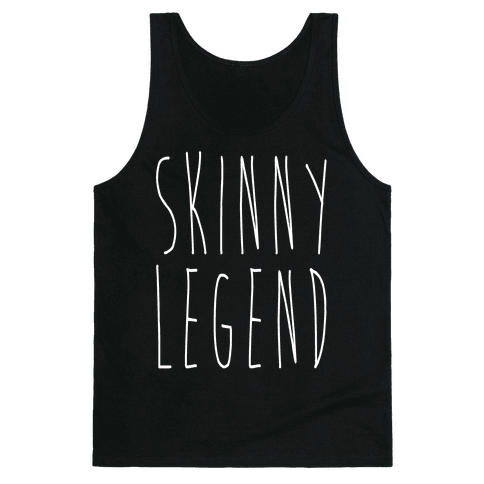 Skinny Legend White Print Tank Top