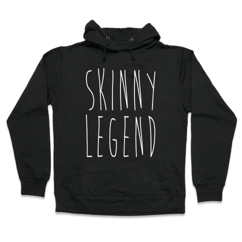 Skinny Legend White Print Hooded Sweatshirt