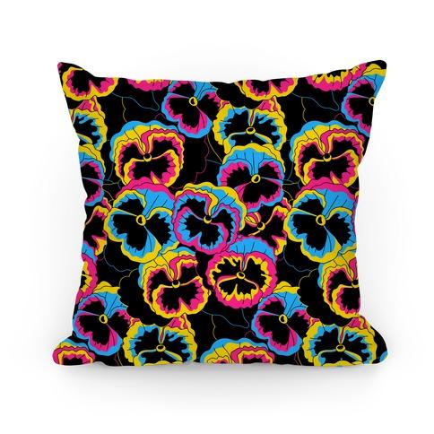 Pan-sy (Pansexual Pansies) Pillow