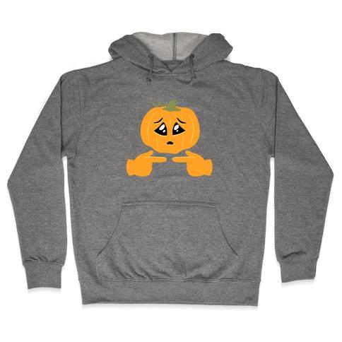 Shy Emoji Jack-o-Lantern Hooded Sweatshirt