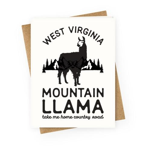 Mountain Llama Take Me Home Greeting Card