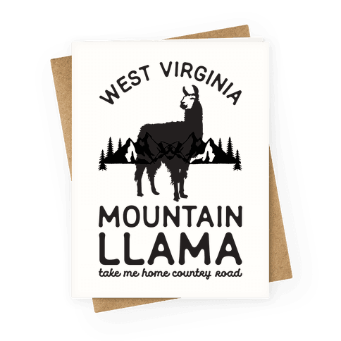 Mountain Llama Take Me Home Greeting Card