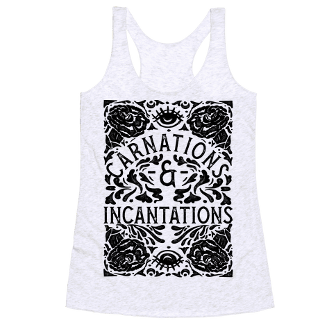 Carnations and Incantations Racerback Tank Top
