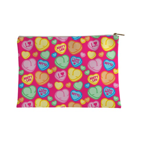 Candy Heart Butts Accessory Bag
