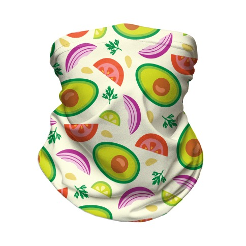 Guac Pattern Neck Gaiter