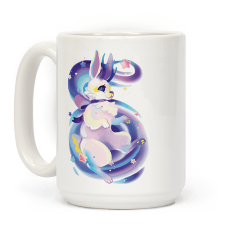 Neon Rainbow Jackalope Coffee Mug
