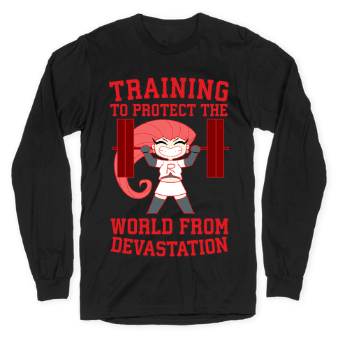 Training To Protect Our World From Devastation Long Sleeve T-Shirt