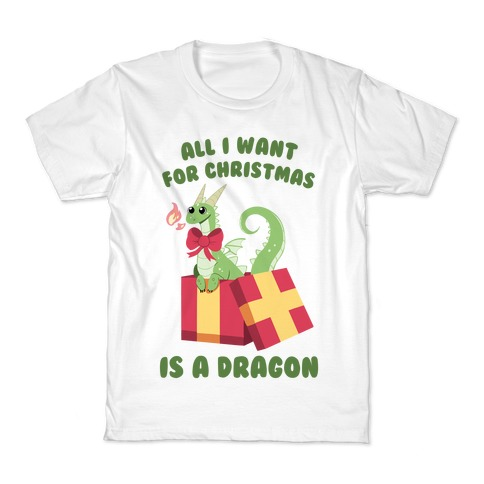 All I Want For Christmas Is A Dragon Kids T-Shirt