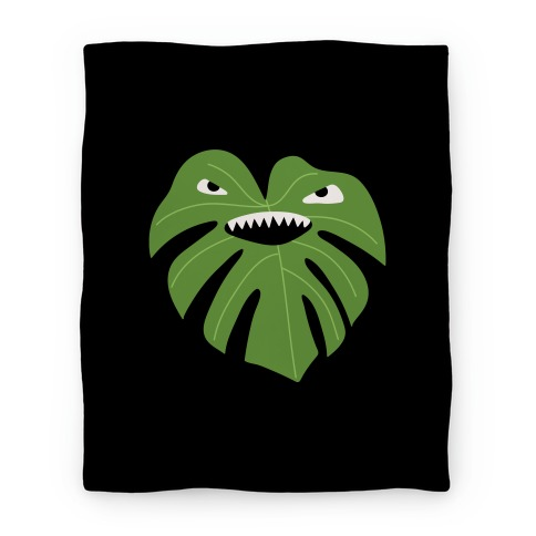 Monstera Leaf Monster Blanket