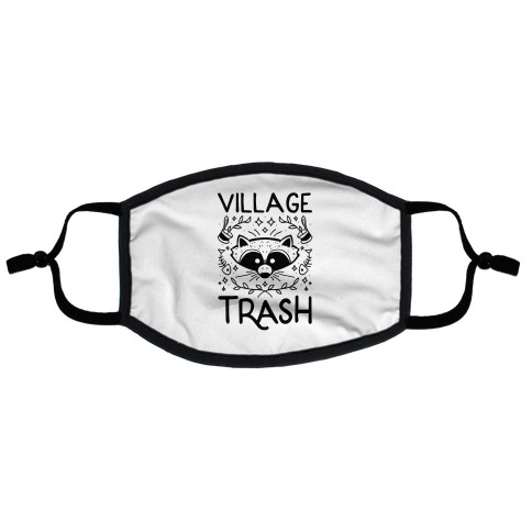 Village Trash Flat Face Mask