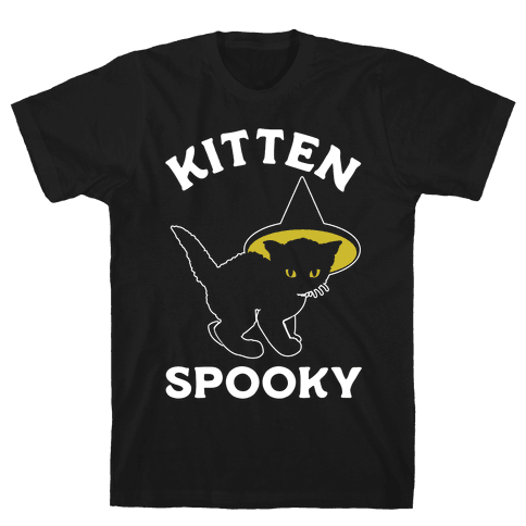 Kitten Spooky Mens T-Shirt