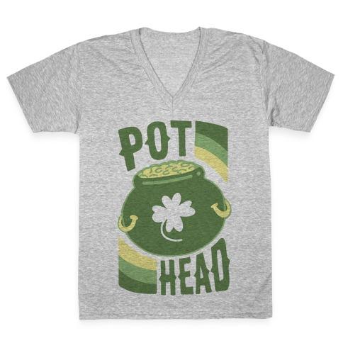 Pot Head - Pot of Gold V-Neck Tee Shirt