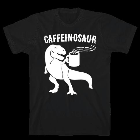 Caffeinosaur Mens T-Shirt