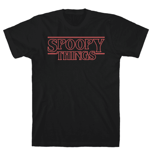 Spoopy Things (Red) Mens/Unisex T-Shirt
