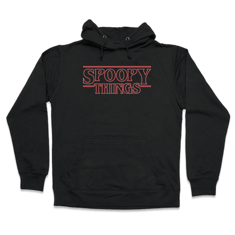 Spoopy Things (Red) Hooded Sweatshirt