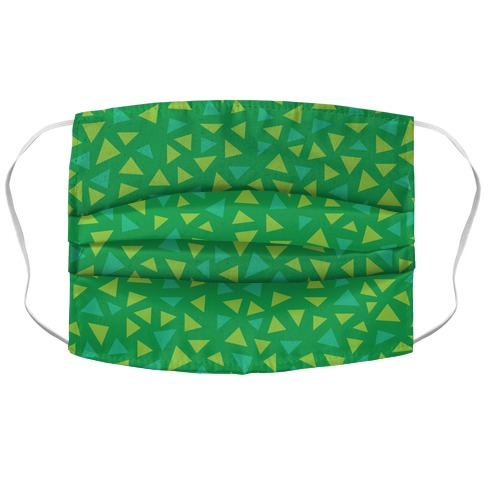 Game Grass Triangle Pattern Accordion Face Mask
